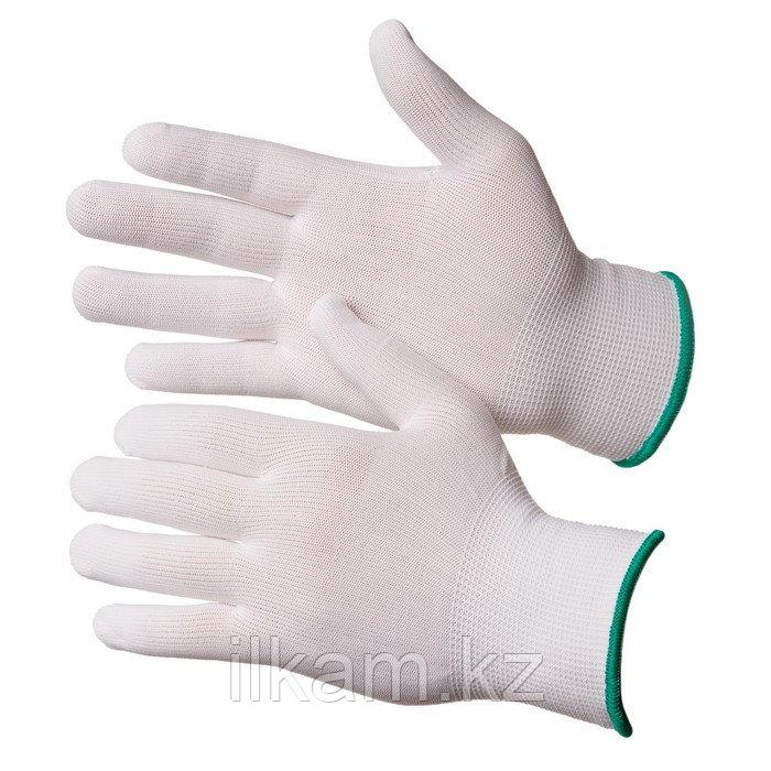 Перчатки нейлоновые чистые белые Gward Touch
