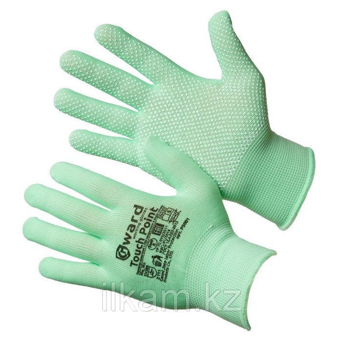 Перчатки нейлоновые с ПВХ микроточкой Gward Touch Point 8