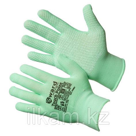 Перчатки нейлоновые с ПВХ микроточкой Gward Touch Point 8, фото 2
