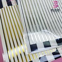 Гибкие ленты для дизайна ногтей ,серебро