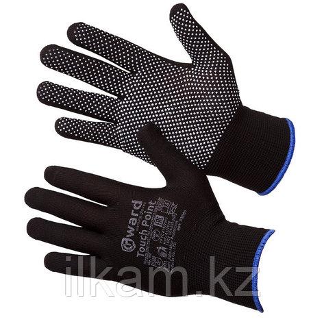 Перчатки нейлоновые с ПВХ микроточкой черные Gward Touch Point 9, фото 2