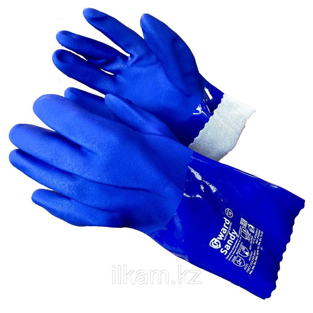 Перчатки маслобензостойкие,химически стойкие с песочным покрытием Gward Sandy