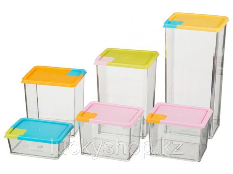 Набор контейнеров для сыпучих продуктов 6 шт