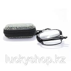 Складные очки +2,5 диоптрий с чехлом, фото 3