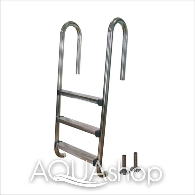 Лестница для бассейна из нержавеющей стали Powerful PSSL05-3/42, 3 ступени