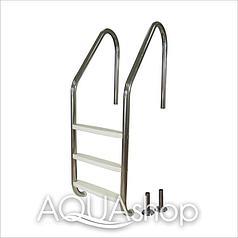 Лестница для бассейна (нержавеющая сталь + пластиковые ступени) PowerFul PSSL01-4/42, 4 ступени