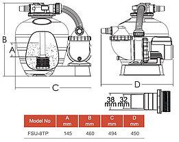 Моноблок для бассейна Aqualine FSU-8TP, фото 3