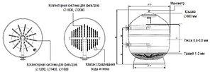 Фильтр для коммерческих бассейнов IML TEIDE TID-1600110 (D1600) 60 м3/час, фото 2