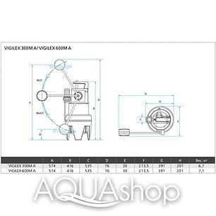 Погружной дренажный насос ESPA Vigilex 300 M A, фото 2
