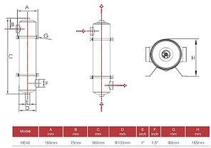Теплообменник Aqualine HE 40 кВт (нержавеющая сталь), фото 3