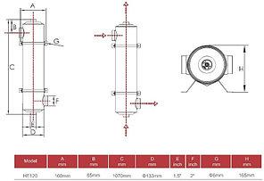 Теплообменник Aqualine HE 120 кВт (нержавеющая сталь), фото 3