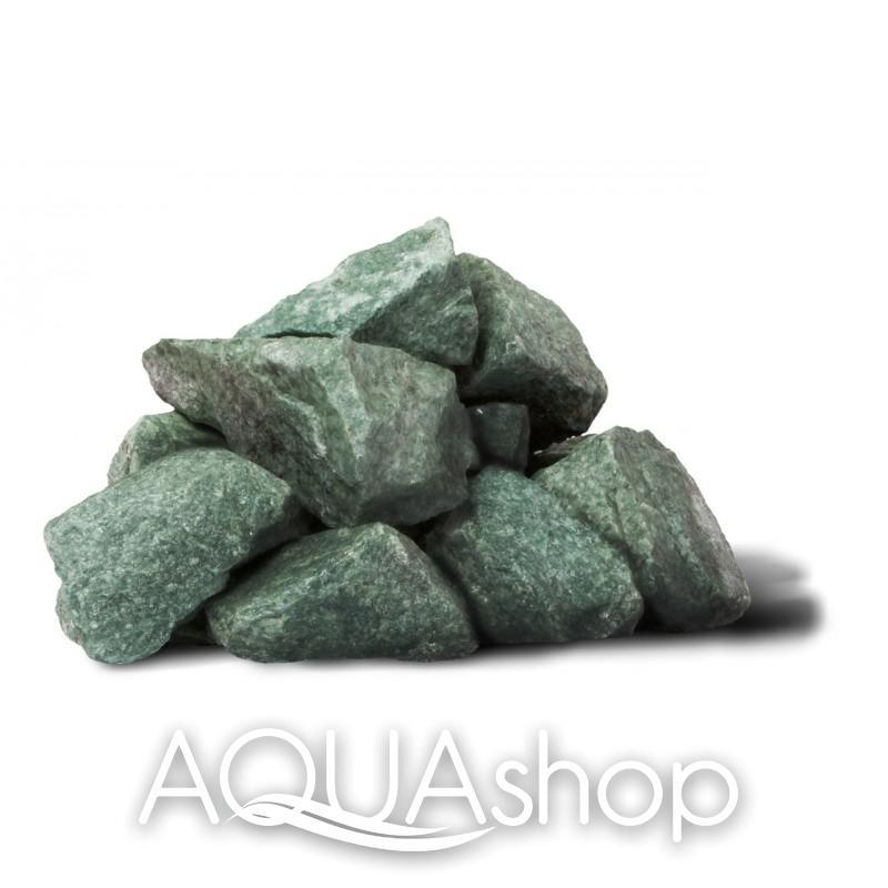 Жадеит камни для печи колотый средний (7-12 см.) 10 кг(ведро)