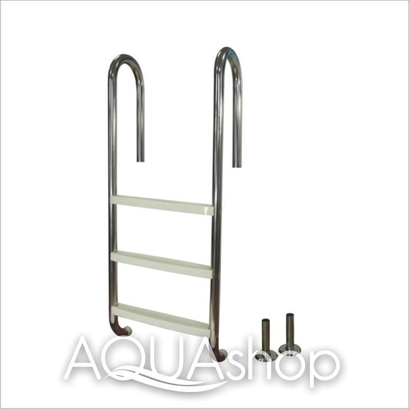 Лестница для бассейна (нержавеющая сталь + пластиковые ступени) PowerFul PSSL04-3/42, 3 ступени