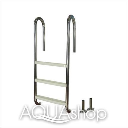 Лестница для бассейна (нержавеющая сталь + пластиковые ступени) PowerFul PSSL04-3/42, 3 ступени, фото 2