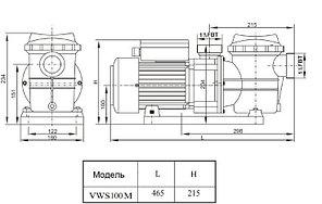 Насос с префильтром Aqualine LX STP100M/VWS100M, фото 3