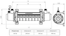 Теплообменник Elecro SST 36 кВт (титан), фото 3