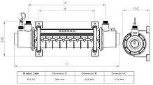 Теплообменник Elecro SST 50 кВт (титан), фото 3
