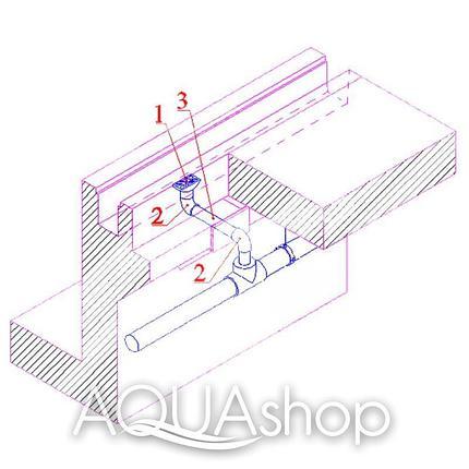 Трап в бетон для переливных каналов, фото 2