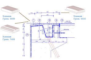 Элемент Грань 7400 №2 (в 1п.м 4 шт) LINEA PADANA-TRIM для организации узла верхнего перелива, фото 2