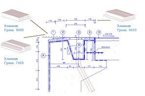Элемент Грань 8080 №2 (в 1п.м 4 шт) LINEA PADANA-TRIM для организации узла верхнего перелива, фото 2