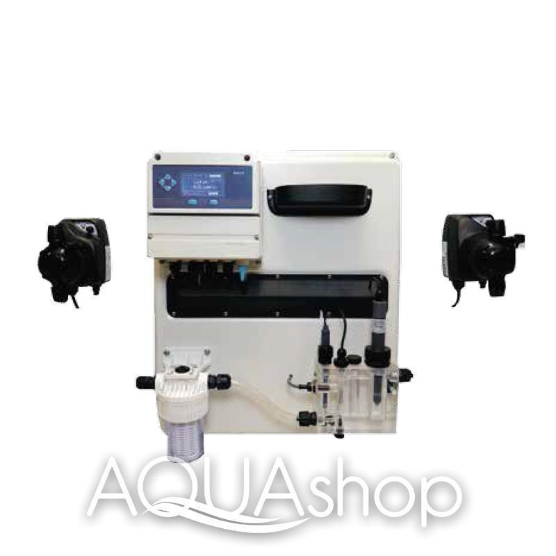 Станция контроля и коррекции A-POOL OXYGEN pH/H2O2 + монтажный комплект
