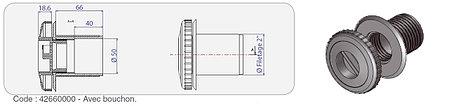 Форсунка для пылесоса без закладной трубы Procopi RB 312 (в бетон), фото 2