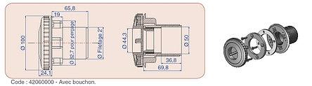 Форсунка для пылесоса без закладной трубы Procopi RL 323 (для лайнера), фото 2