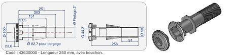 Форсунка для пылесоса с закладной трубой Procopi TP 261 (в бетон), фото 2