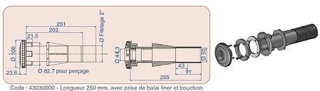 Форсунка для пылесоса с закладной трубой Procopi TP 271 (для лайнера), фото 2