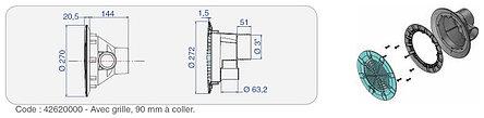 Форсунка возвратная с решеткой без закладной трубы Procopi RB 302 (в бетон), фото 2