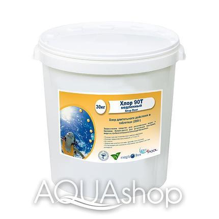 Хлор 90Т - Хлор Лонг для бассейна в таблетках (200гр.) 50 кг, фото 2