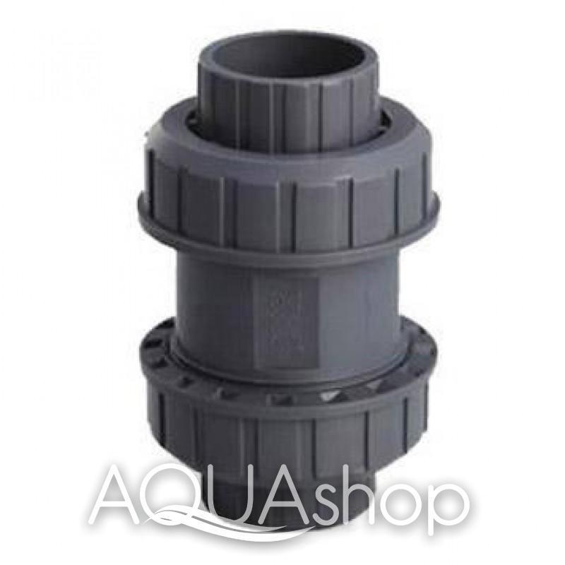 Обратный клапан, диаметр 50 мм. ПВХ трубы и фитинги для бассейнов.