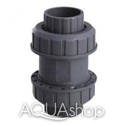 Обратный клапан, диаметр 50 мм. ПВХ трубы и фитинги для бассейнов., фото 2