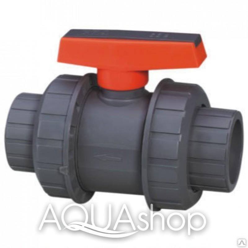 Шаровый кран, диаметр 63 мм. ПВХ трубы и фитинги для бассейнов.