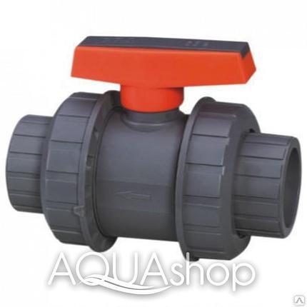 Шаровый кран, диаметр 63 мм. ПВХ трубы и фитинги для бассейнов., фото 2