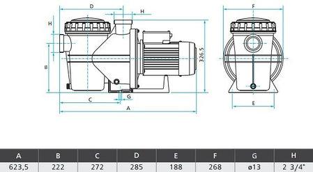 Насос SILEN S2 100 24М 21м³/час, 1.5 кВт, 220 В, фото 2