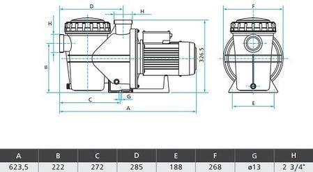 Насос SILEN S2 200 31М 230 В 2.2 кВт 29 куб.м/ч, фото 2