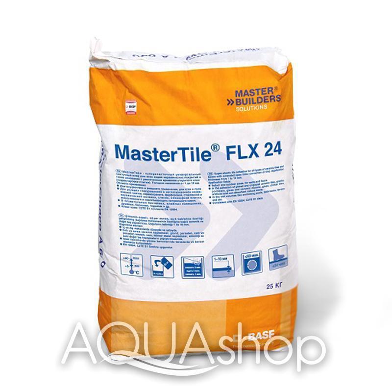 Клеящий раствор MasterTile FLX 24 WHITE (Fleksmortel white), 25 кг