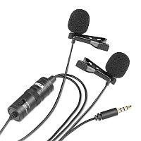 Двойной петличный микрофон Boya BY-M1DM, фото 1