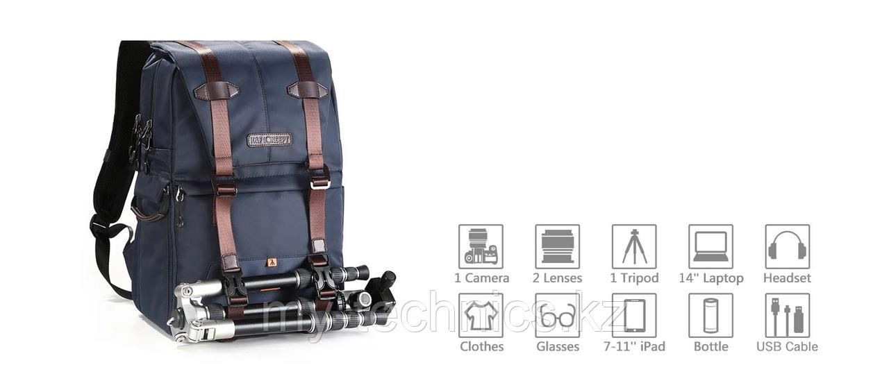 K&F Concept DSLR Camera Travel Backpack for Outdoor Photography Waterproof (KF13.087)