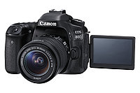 Фотоаппарат Canon EOS 80D kit 18-55 IS STM  + Батарейный блок