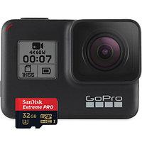 GoPro HERO7 Black +Micro SD SanDisk Extreme  32GB