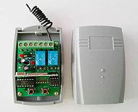 Универсальный 2-канальный беспроводной гаражные ворота 433 МГц DC12V/24V приемник рулонного кода