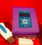 Скрабер ультразвуковой, профессиональный в фиолетовом цвете с дисплеем и с одной манипулой, фото 3