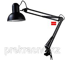 Лампа настольная на струбцине черная