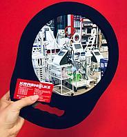 Зеркало круглое с одной ручкой для клиентов  не бьющееся, фото 1