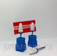 Керамическая фреза для аппаратного маникюра синяя маленькая