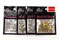 Стразы броши для дизайна ногтей металлические Boya