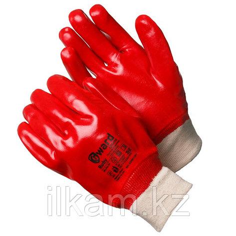 Перчатки маслобензостойкие, с ПВХ покрытием с манжетой-резинкой Gward Ruby, фото 2