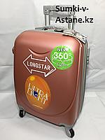 Маленький пластиковый дорожный чемодан на 4-х колесах.Высота 53 см, ширина 33 см, глубина 21 см., фото 1